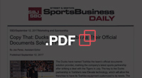 PDF - SportsBusiness Daily: Copy That: Ducks Name Toshiba As Their Official Documents Solution Provider
