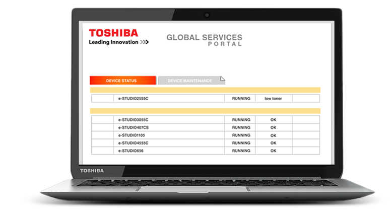 With our Global Services Portal, we will help you monitor and manage your printing and assets so you can take control of your fleet.